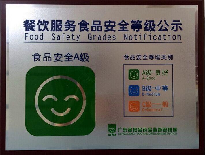 餐饮服务食品安全A级